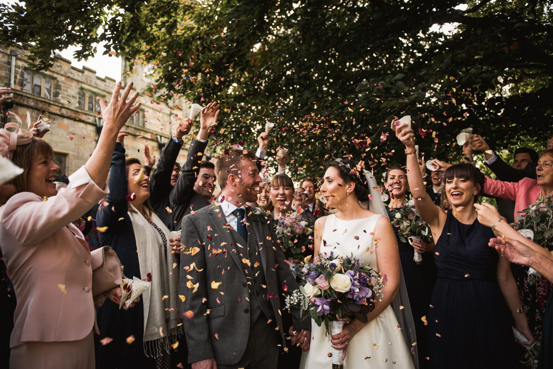 confetti at Nottingham wedding
