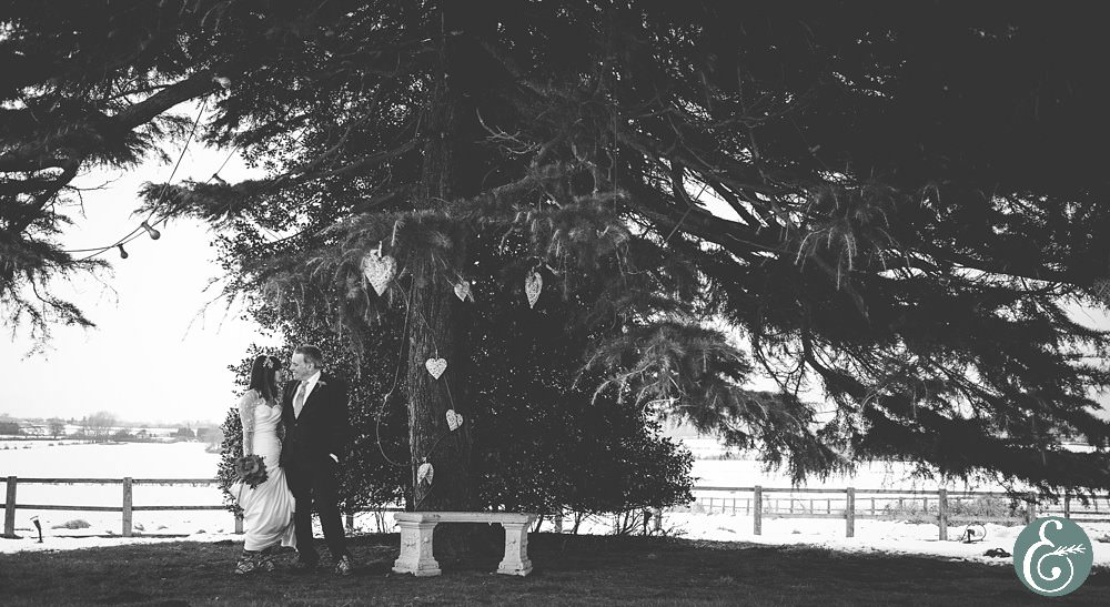 winter wedding at Swancar Farm