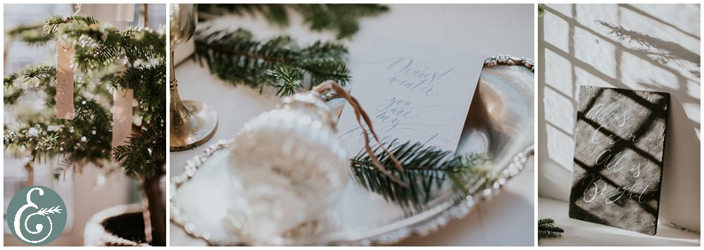 Christmas wedding styled shoot